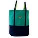 tote bag XL / green x navy
