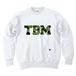 TSUBOMIN / CAMO TBM LOGO CREWNECK SWEAT WHITE