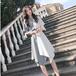 【dress】絶対流行ファッションゆったり着瘦せ切り替えシャツワンピース