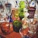 レトロ 分厚い気泡グラス (検索用→ガラス コップ 吹きガラス アンティーク mar25 )