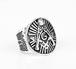 9号銀色 フリーメイソン リング 指輪