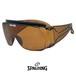 SPALDING オーバーグラス スポルディング サングラス 眼鏡の上からかけられる サングラス spo103-b ブラウン サイドガード アイガード