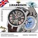 【J.HARRISON】JH-033PK バックスケルトン多機能付、手巻&自動巻腕時計