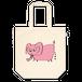 トートバックピンクの象