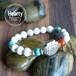 【MAKA White】 パワーストーン ブレスレット レディース メンズ 天然石 カーネリアン ターコイズ ホワイトハウライト[送料無料]