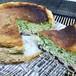 抹茶と小豆のバスク風チーズケーキ