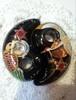 【鶴】【亀】麻炭勾玉オルゴナイト
