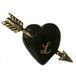 Heart & Arrow Brooch / Black x Initial (予約商品)