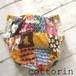 布おむつカバー  パンツタイプ 80-95 レトロパッチワーク柄