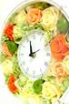 お待たせしました!大人気商品【花時計が入荷】結婚のお祝いや新築のお祝い、開業祝いなどに喜ばれる花時計(ビタミンカラー&青リンゴ)