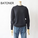 BATONER/バトナー・ Aging Wool Ragran Sleeve
