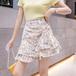 【bottoms】人気を独占中ハイウエスト花柄スカート2色韓国系着心地良い