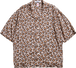 HEART LEOPARD CHILL SHIRTS-BROWN