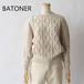 BATONER/バトナー・Different Gauge Cable Crew Neck