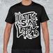 ストリートロゴTシャツ/メンズブラック*Distinclothオリジナル