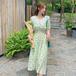 【dress】ファッションand清新!清新人気デザイン切り替え花柄ワンピース2色 M-0416