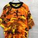 オレンジ迷彩 Tシャツ  #1551