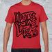 ストリートロゴTシャツ/メンズレッド*Distinclothオリジナル