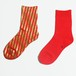 METAL SOX (STRIPE) RED X GOLD