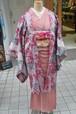 アンティークの長羽織☆銘仙正絹☆レースが豪華なオリジナル