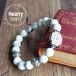 【ALIVE White】 パワーストーン ブレスレット メンズ レディース 天然石 ホワイトハウライト メタルパーツ[送料無料]