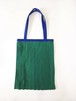 PLEATS TOTE BAG / GREEN x Blue [size:F]