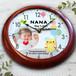 風船アニマル 35.5cm木製壁掛け時計 オーダーメイドの出産祝い 内祝い