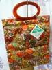 【LADY'S PRIDE】デッドストック! 2WAYトートバッグ オレンジベースの花柄 70年代
