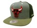 MITCHELL&NESS SNAPBACK CAP (CLAY/NBA/Chicago Bulls: GREY×OLIVE×KHAKI)