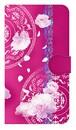 【鏡付き Mサイズ】Peony Dream 芍薬の夢 フューシャピンク 手帳型スマホケース