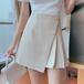 【bottoms】ハイウエスト爽やかな印象高級感 シンプル無地スカート2色