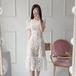 【dress】絶対流行おすすめエレガントフリル レースデートワンピース M-0146