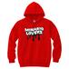 minario / LOVERS LOGO HOODED SWEATSHIRT RED