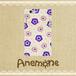 18機種対応 Anemone×Blue インド綿プリント調スマホカバー