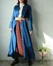 vinatge denim long flare dress+coat