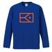 KYUS ロゴ  ドライシルキーロングスリーブTシャツ  (ブルー×オレンジ)
