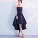 フィッシュテール ドレス スパンコール チューブトップ 刺繍 結婚式 パーティー お呼ばれ(F036)