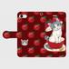 手帳型スマホケース「サバトラ猫と林檎」(iPhone5/5S/SE ・iPhone6/6s ・iPhone7 ・iPhone8 ・iPhoneⅩ・Android S・M)