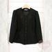 ブラック お花刺繍レースジャケット