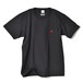 CREW NECK T-SHIRT / RED FIN / SUMI BLACK