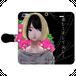 #021-001 iPhoneXS/X セクシー系・女の子系 《ハマナスの花》 手帳型iPhoneケース ・ 手帳型スマホケース 全機種対応 作:クロレ Xperia ARROWS AQUOS Galaxy HUAWEI Zenfone