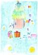 ポストカード「 森のクリスマス 」