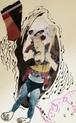 ◆旅立ちの朝【根本敬A5ドローイング&コラージュ】祭りの準備シリーズⅠ③※清山飯坂温泉芸術祭に展示中