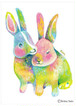 君が嬉しいなら私も嬉しい ウサギ〔原画〕