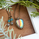 Drop of Rainbow Labradorite Necklace
