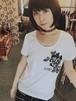 牡丹ロゴプリントTシャツ