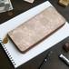 ラウンドファスナー 長財布(グレイッシュ ジニア)オールレザー 革 レディース メンズ ILL-1150
