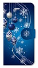 【iPhone5/5s/SE】Winter Holiday Royal Blue ウィンター・ホリデー ロイヤルブルー 手帳型スマホケース