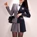 お呼ばれセットアップ スカート トリコロール 配色カラー 制服風 セット ロリータ ハイウエスト おしゃれ セクシー ミニスカート i1102