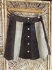 Vintage バイカラースエードスカート